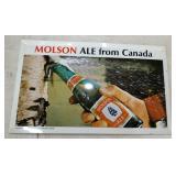 12 1/2X7 1/2 MOLSON ALE SIGN