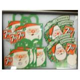 EARLY 7UP SANTA TOPPERS