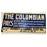 18X8 THE COLUMBIAN PAYS CB SIGN