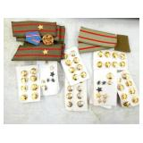 MILITARY PINS,BUTTONS,BARS