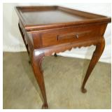 CRAFTIQUE TEA TABLE W/ PULL OUT