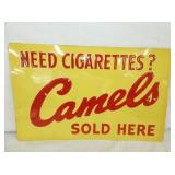 22X14 OLD STOCK EMB. CAMELS SIGN