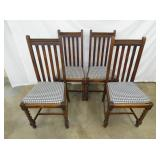 4 MATCHING STRIGHT BACK CHAIRS