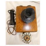 OAK WALL TELEPHONE
