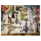 VARIOUS CAP PISTOLS AND HOLSTERS