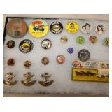 VARIOUS COLLECTOR BUTTONS