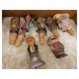 COLLECTION CARVED BOTTLE TOPPERS