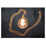 Vintage Avon Cameo Necklace