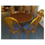 7 pice Oak dining set