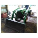 John Deere 855 4x4 diesel tractor with front loader