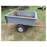 Steel garden trailer