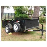 Versatile 10x5 steel trailer with loading ramp