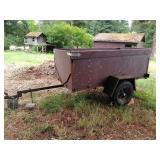 4 X 8 foot heavy duty single axel trailer with sides