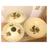 "Metlock Poppy Trail china, made in California ""90"" plus pieces including serving pieces"