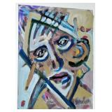 Oil cubist signed