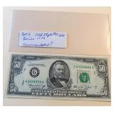 Lot 2, Old Style $50 Bill