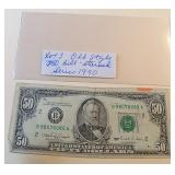 Lot 3, Old Style $50 Bill