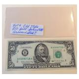 Lot 4, Old Style $50 Bill