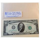 Lot 6, 1950D Ten Dollar Bill