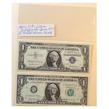 Lot 11, One Silver Certificate, One Federal Note