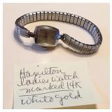 Hamilton Watch 14K White Gold