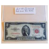 Lot 43 (3) Two Dollar Bills, 1953B