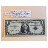 Lot 50, Three (in sequence) Silver Certificates