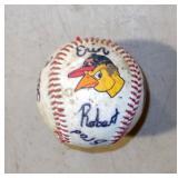 Toledo Mudhens Signed Baseball