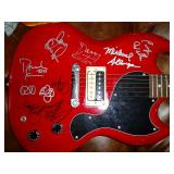 Three Dog Night and Beach Boys Autographed Guitar