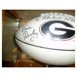 Autographed Football By Ga Coach Vince Dooley