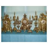 Mantel Clocks with Garniture Sets