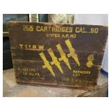 World War II Admonition Box  265 Cartridges Cal. .50