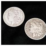 1892-s and 1903-s Morgan Silver Dollars