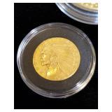 1915 Gold Indian Head Quarter Eagle