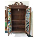 "97"" Height X 57"" Width X 20"" Depth Doors are made from bottle bottoms and slight damage to a couple"