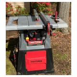"""Craftsman 10"""" Table Saw on Stand with Accessories"""