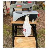 """Craftsman 16"""" Scroll Saw with Tilt Arm, Dust Collection Model 351.224360 on Stand"""
