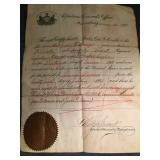 PA Enlistment & Discharge papers 1861-1864 Company 76 Third Regiment Infantry