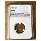 1909 MS 62 Gold Coin