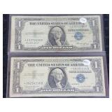 2 $1.00 Silver Certificates