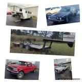 Vehicles, Trailers, Antiques, Tools, Furniture, and more