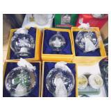 Spun Glass Ornaments
