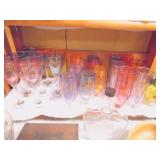 Italy gold decorated glasses