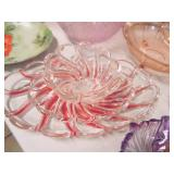red decorated dishes