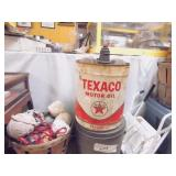 Texaco Motor OIl Can