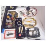 military medallions, pocket knives
