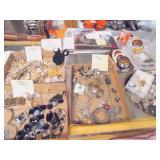 trays of costume jewelry