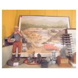 mining picture & statues