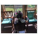 teak chairs sunroom