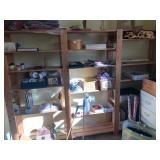 Wood shelf unit